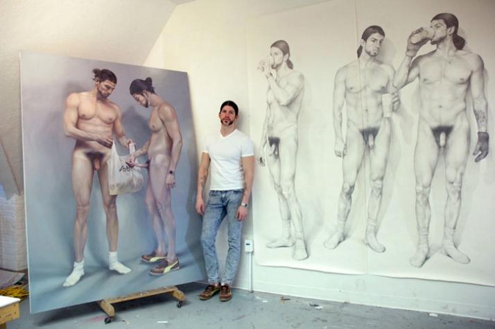 in the studio with Zachari Logan / photo by Karla Griffin