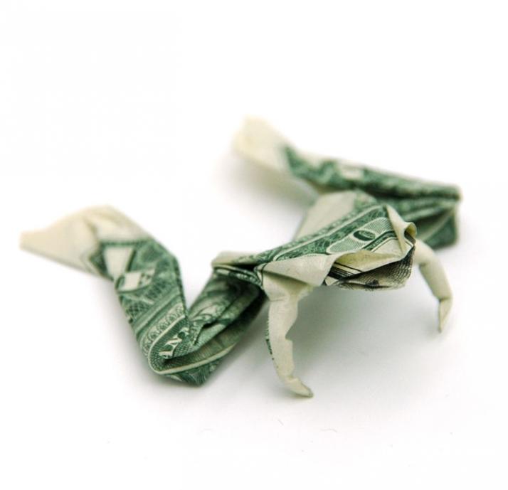 dollar origami yatzer