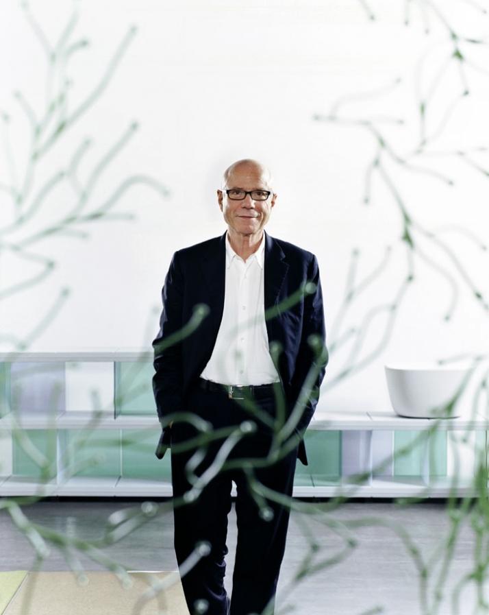 portrait of Rolf Fehlbaum / photo © Vitra