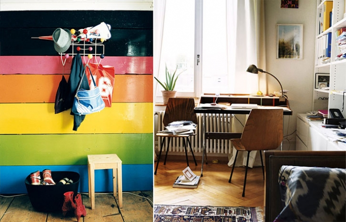 left: Hang it all, Charles & Ray Eames, 1953  / right: home desk, George Nelson, 1958 / photo © Vitra