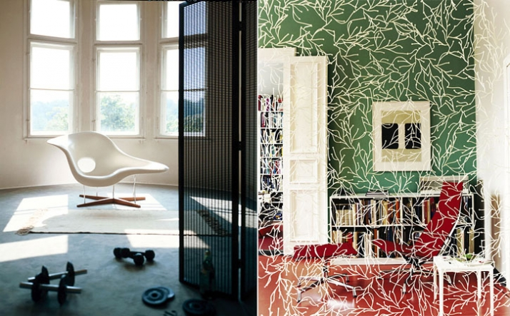 left: La Chaise, Charles & Ray Eames, 1948 / right: Algue, Ronan and Erwan Bouroullec, 2004 / Photo © Vitra