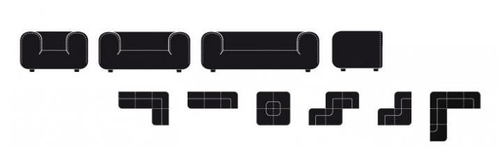 Club chair & sofa by Tom Dixon