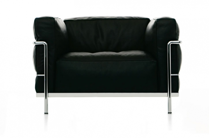 Armchair LC3 designed by Le Corbusier, Pierre Jeanneret, Charlotte Perriand in 1929 for Cassina