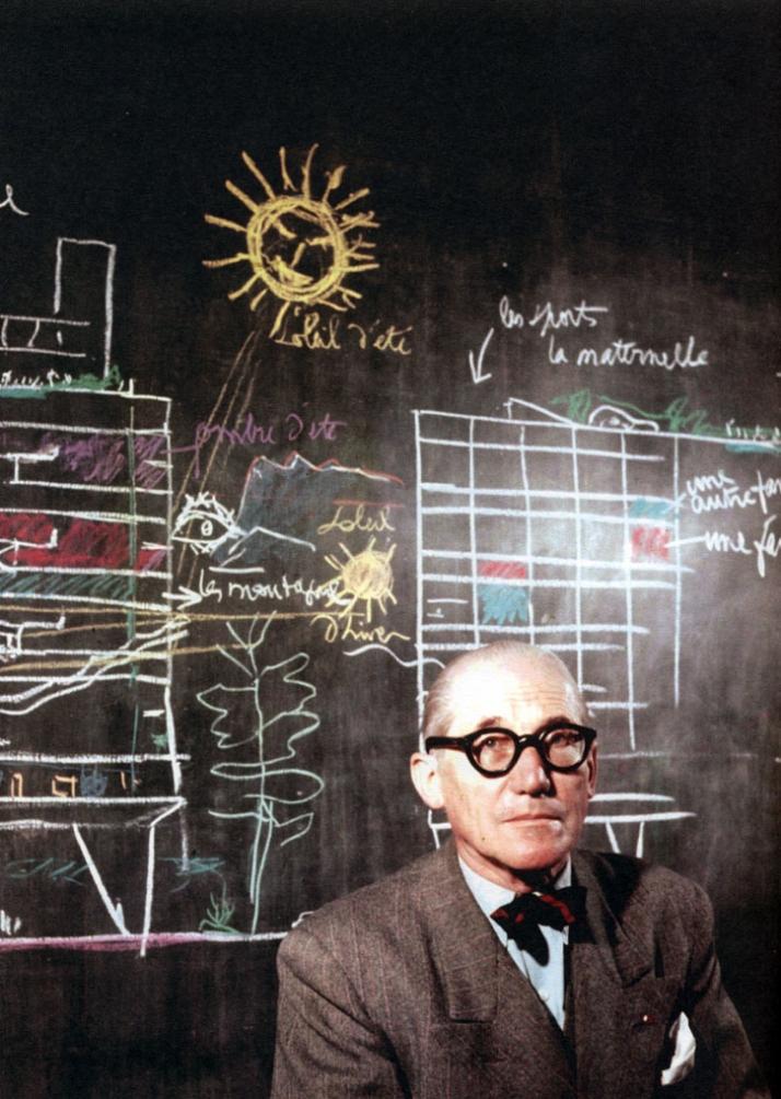 : Le Corbusier, Phillips Pavilion at the World's Fair in Brussels, 1958 ©FLC, Paris and DACS, London 2009left: Le Corbusier, Unité d'habitation de Mar