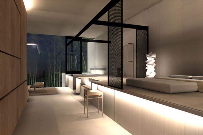 MEILO HOTEL, Tokyo, 3D rendering © CURIOSITY