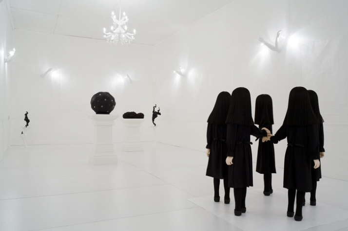 an installation view of the exhibition room, photo © VG-Bild Kunst, courtesy of Upstairs Berlin