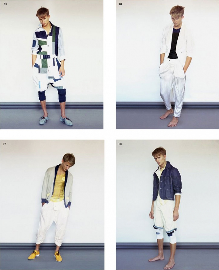 from S/S 2009 Lookbook, photographs by Julia Champeu, model: Anders (studio Model Managment)