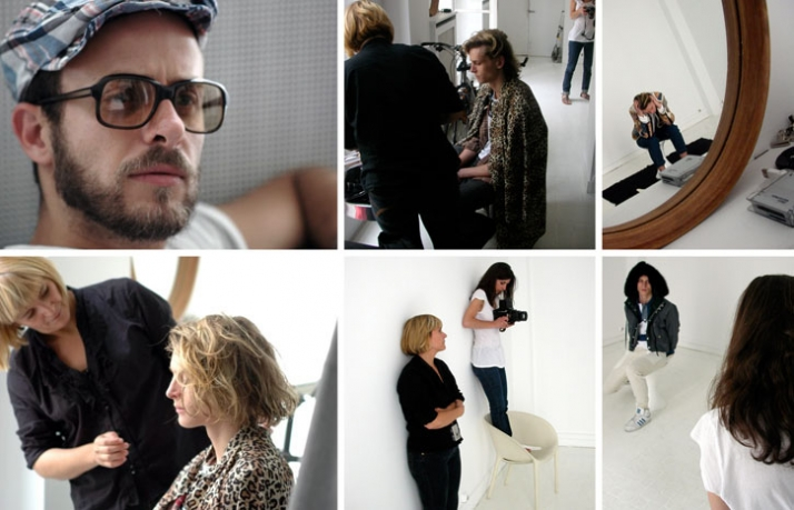 A/W 2009 collection / backstage pictures from the Lookbook shooting (Philippe Dufour-Loriole on the up-left corner)