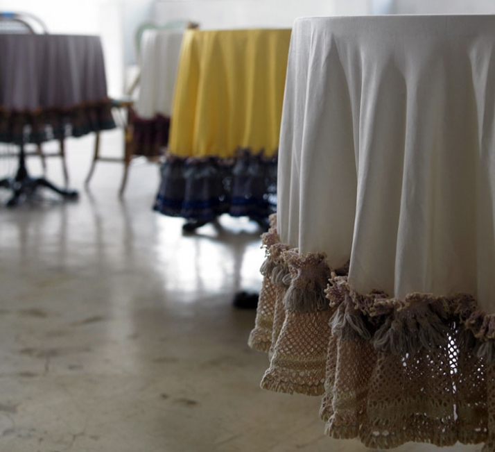 The Happiest table and the Table cloth by Theatre Products