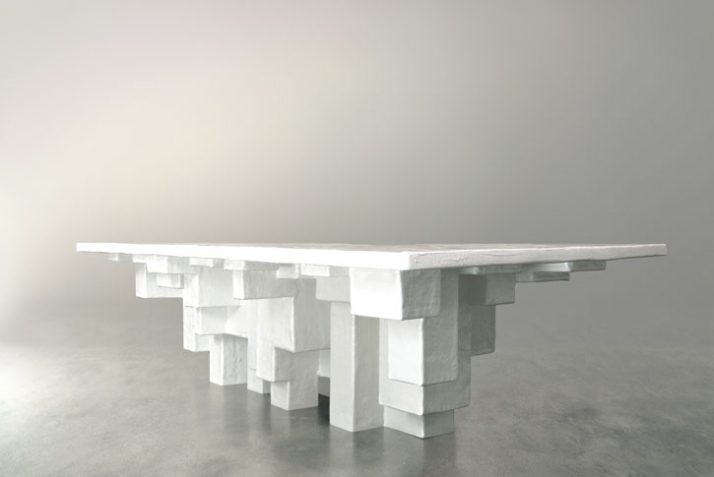 primitive dinning table (side view)