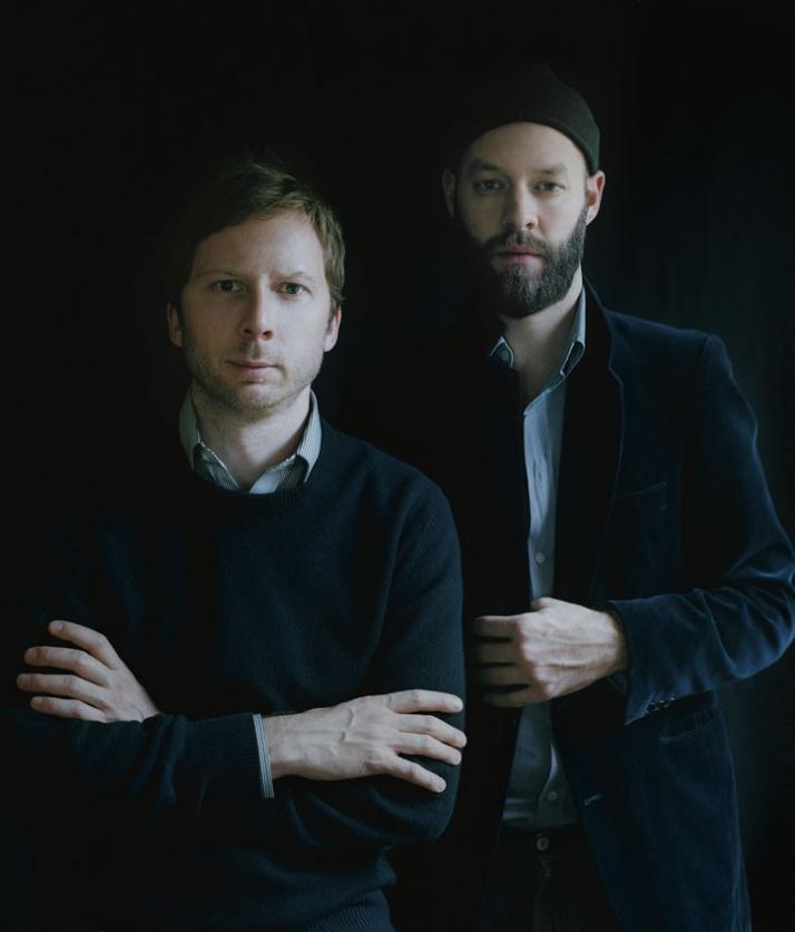 portraits of Chris Martin and Magnus Eleback