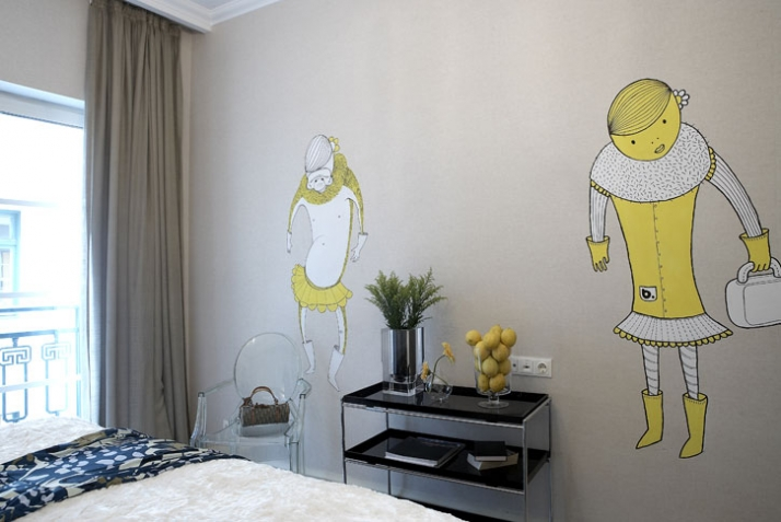 room-Graffiti by b. for BABYGRAND Hotel in AThens/GR /// photo © b.// Courtesy The Breeder