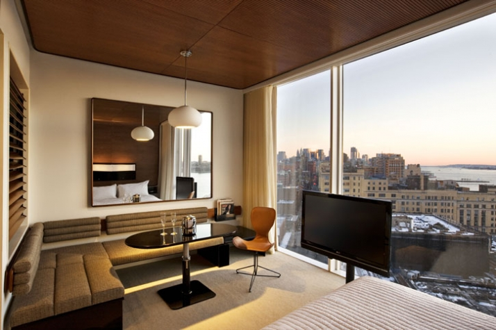 West facing room with view // photo Courtesy of The Standard,New York