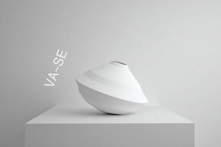 vase /// material: SLS polyamide /// dimensions: 154 x 228 mm