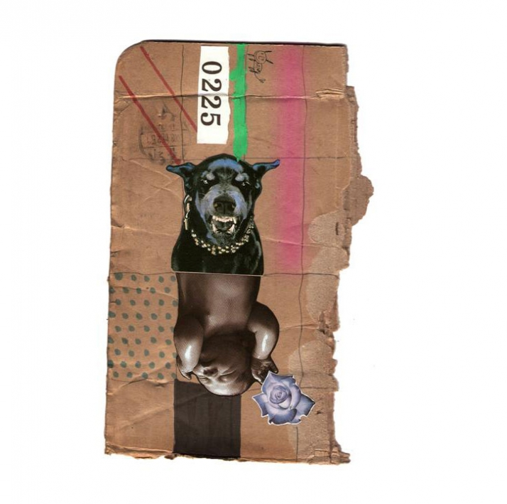 Baby dog // February 2008 mixed media // 24,5x16 cm