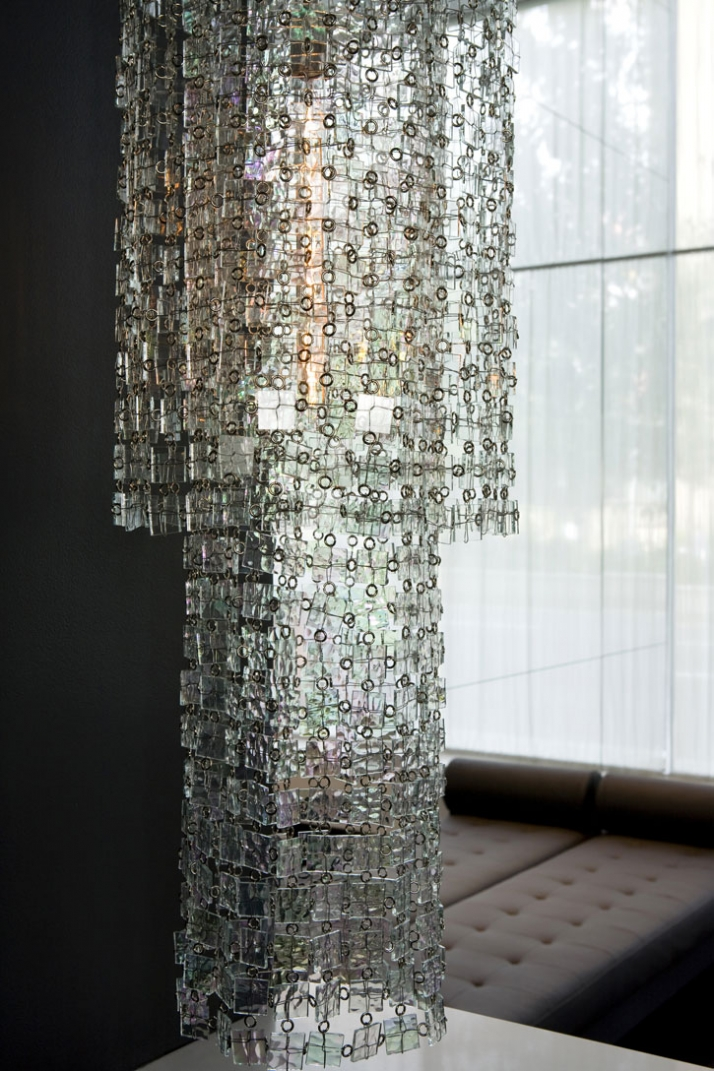 glass-maille chandelier  by ABYU couture lighting // photo © Antoine Bootz