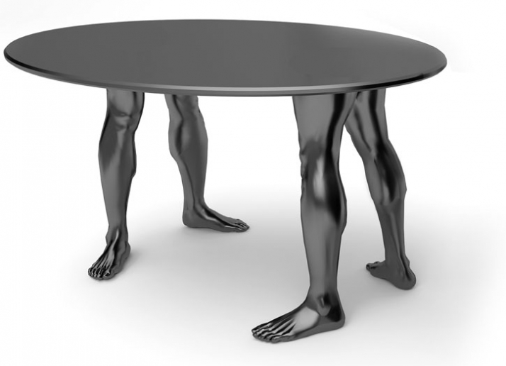 Human table by Dzmitry Samal