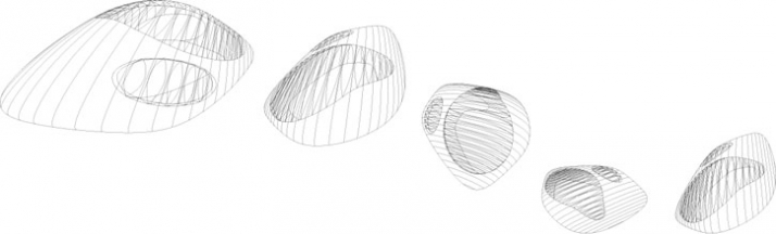 wireframe concept drawings // courtesy of Zaha Hadid Architects