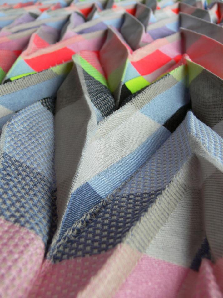 Shibori pleats