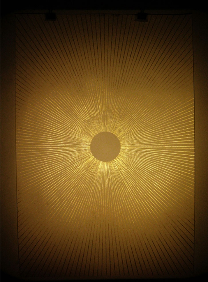 Title: The Beginning and the End of EternityMedium: 23kt Gold on paperSize: 150cm by 100cm Year: 2008Courtesy of Kalfayan Galleries Athens-Thessalonik