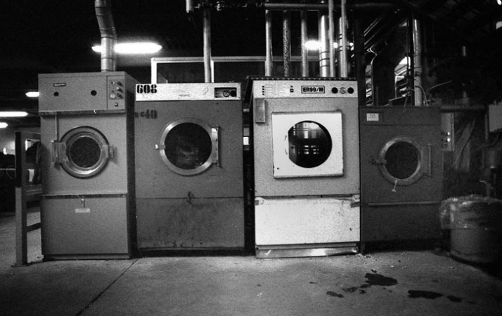 the famous washing machines // Image Courtesy of Evisu