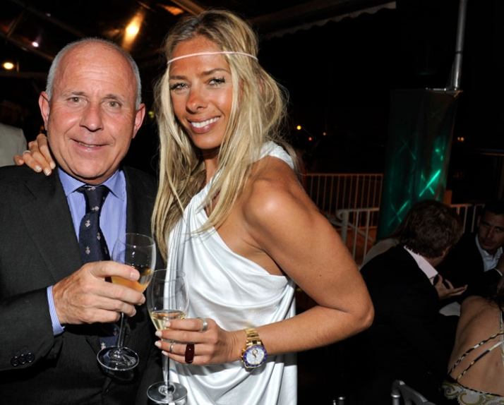 Adriane Galisteu and Franco Mueller Image courtesy of Veuve Clicquot Ponsardin