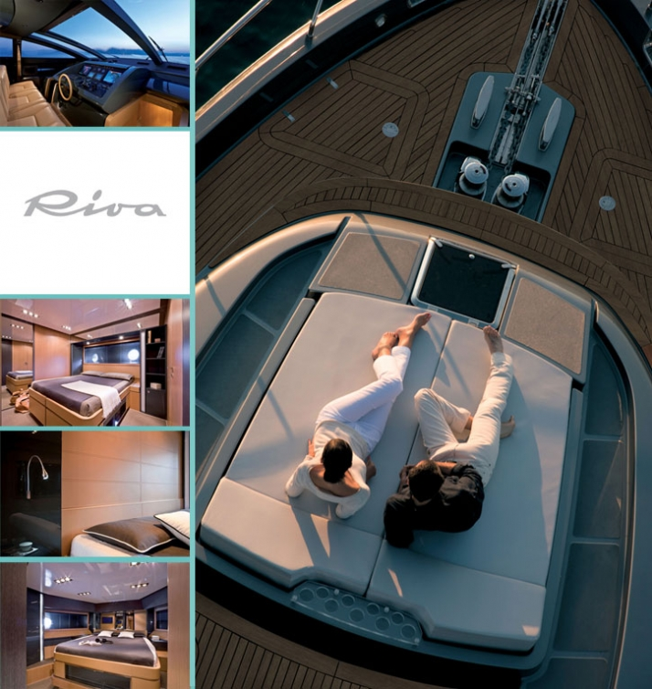 The new 86'DOMINO by RIVA Exterior photos: Jerome Kelagopian // Interior photos: Alberto Cocchi Courtesy of RIVA yacht