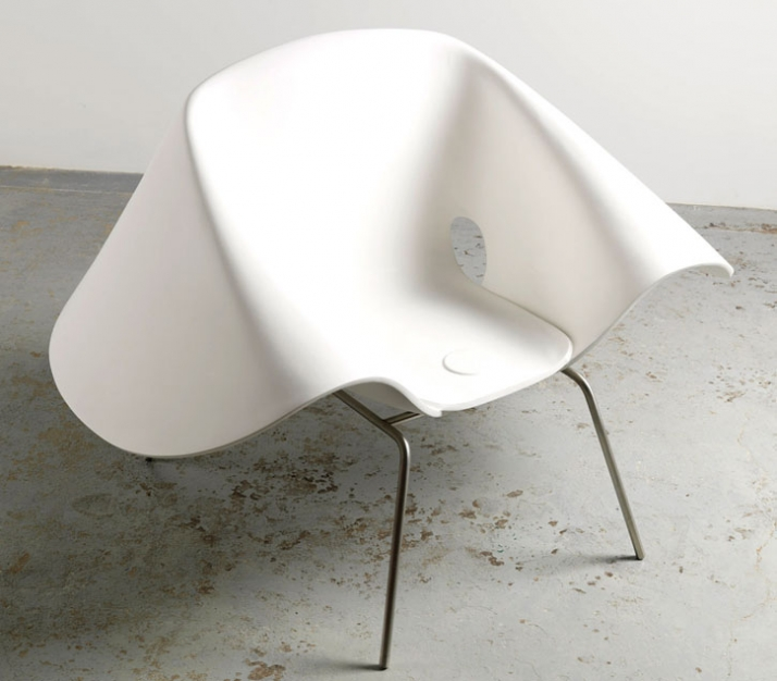 Richard Prince Nurse Hat Chair, 2008 UV stable polyurethane and stainless steel 99.1 x 142.2 x 101.6 cm Edition of 7 Courtesy of Gagosian Gallery