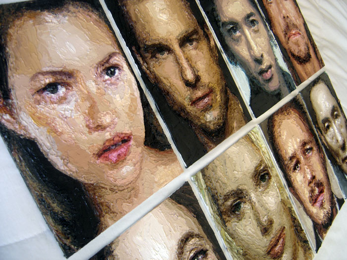 "Zed Nesti, 2009 Madonna // series: ""Celebs"" oil on canvas 22,8 x 30,5 cm"