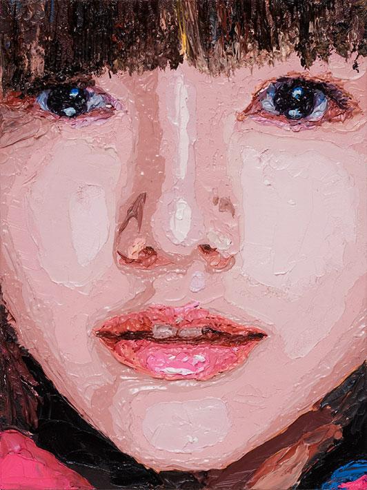 "Zed Nesti, 2009 Aoi Miyazaki // series: ""Celebs"" oil on canvas 22,8 x 30,5 cm"
