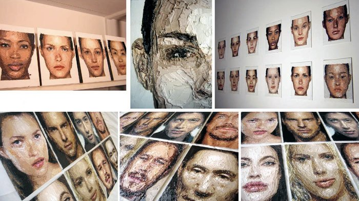 "Zed Nesti, 2009  series: ""Celebs"" oil on canvas 22,8 x 30,5 cm"