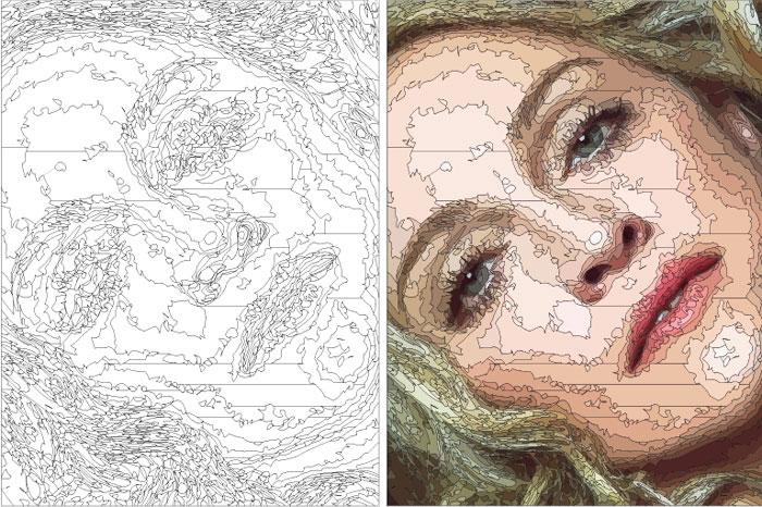"Zed Nesti, 2009 process of Madonna's portrait // series: ""Celebs"" oil on canvas 22,8 x 30,5 cm"