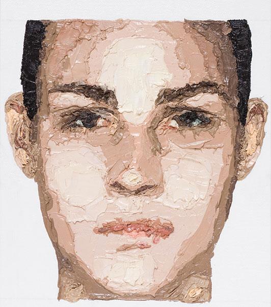 "Zed Nesti, 2009 Fernanda Tavares // series: ""Celebs"" oil on canvas 22,8 x 30,5 cm"