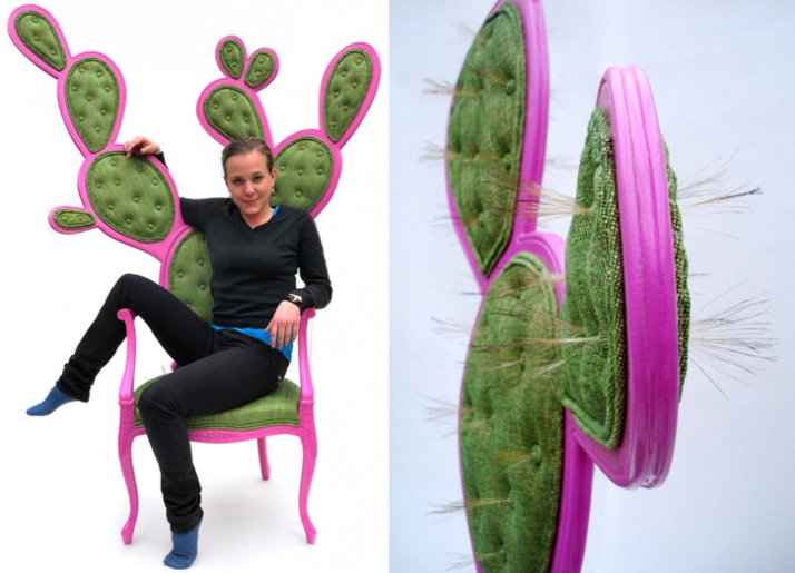 Prickly Pair Chairs by Valentina Gonzalez Wolhers
