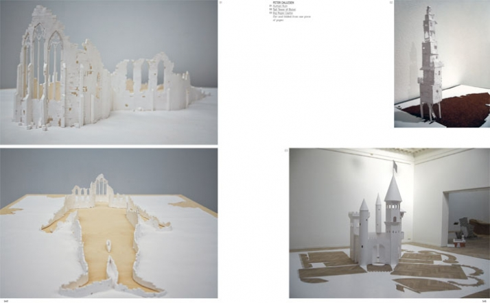 Peter Callesen left: Human Ruin right: Tall Tower of Babel & Big Paper Castle Cut and folded from one piece of paper.