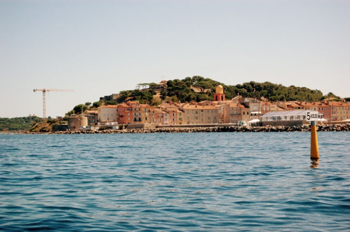 "general view of St.Tropez from ""Aquariva super"" yacht // photo © Yatzer"