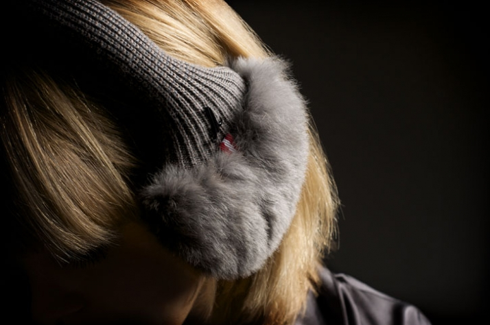 EARMUFFS // Cashmere & merino wool knit / rex rabbit fur // EUR 130