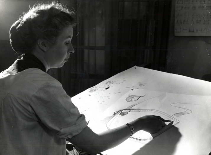 Mrs. Dedryver, designer at Delvaux from 1946 until 1956 © Photography Agence Belgo Presse BXL