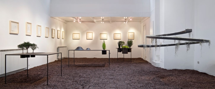 """installation of the """"Pocket Landscapes"""" exhibition // Photo by Santi Caleca"""
