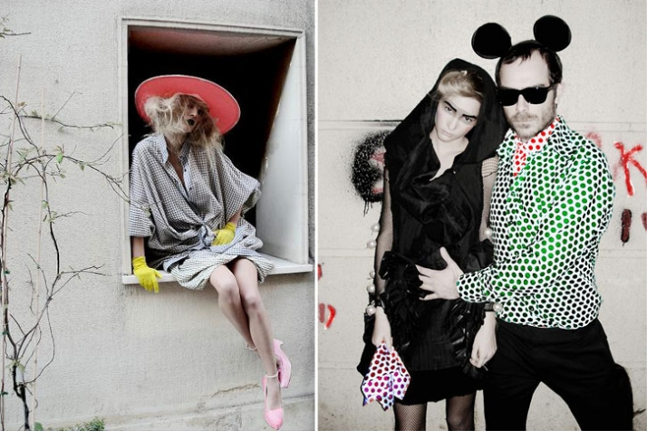 (left) clothes by Yiorgos Eleftheriades © photo by Filep Motwary (right) clothes by Filep Motwary © photo by Filep Motwary
