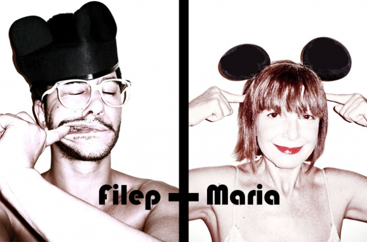 self portrait of Filep Motwary &  Maria Mastori by Filep MotwaryImages courtesy of Filep Motwary