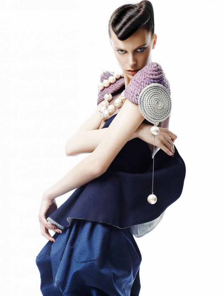 total look for VOTRE BEAUTE // SAME TIME TOMORROW // Filep Motwary * Maria Mastori // S/S-2008 Clothes: Filep Motwary Jewellery: Maria Mastori styling