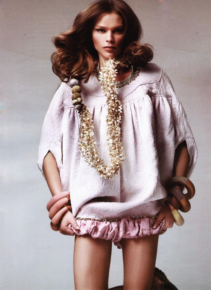 total look for ELLE magazine , Greek edition // ???????????? // Filep Motwary * Maria Mastori // S/S 2007 Clothes: Filep Motwary Jewellery: Maria Mast
