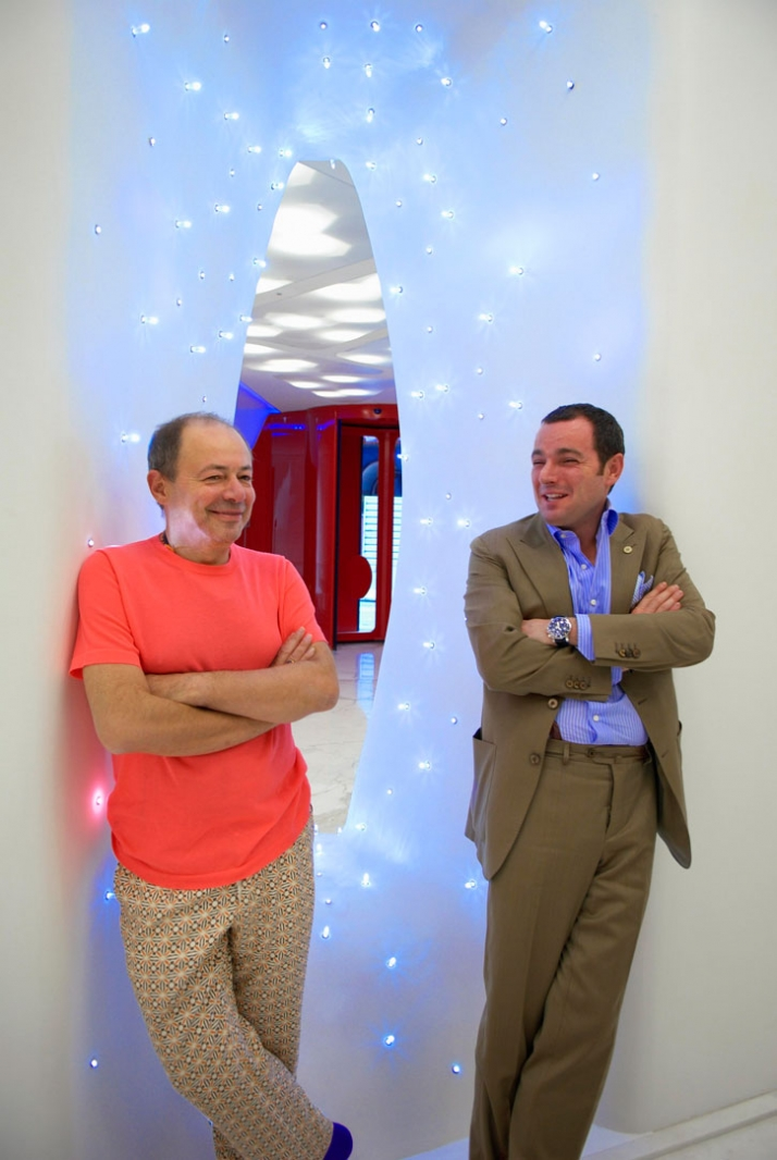 Italo Rota (left) and Roberto Boscolo (right) // photo ©  Jürgen Eheim Image Courtesy of Boscolo Exedra Milan