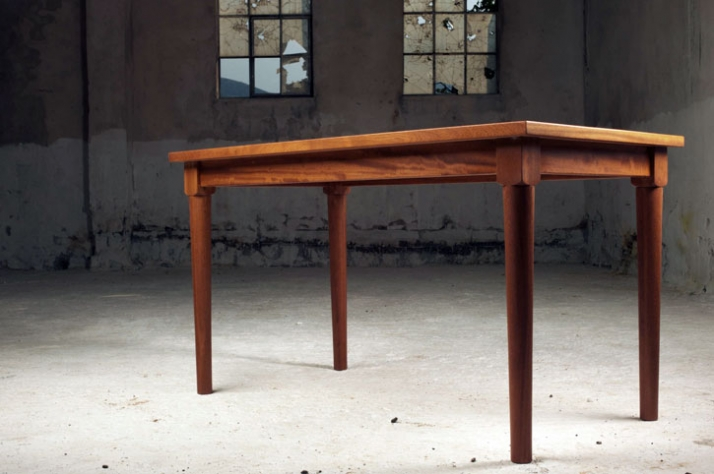 Muse Wooden Desk // H79xL140xW45 material: solid iroko wood photo by Michalis Andrianos