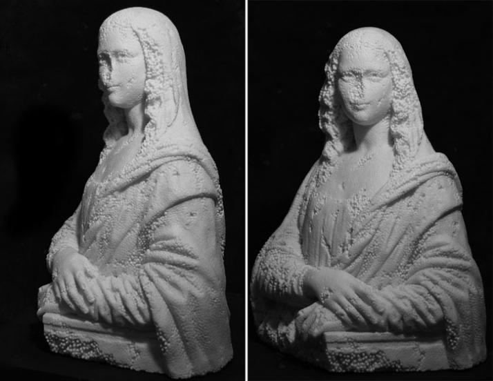 Souvenir Gioconda white marble,78 x 59 x 45 cm, 2007