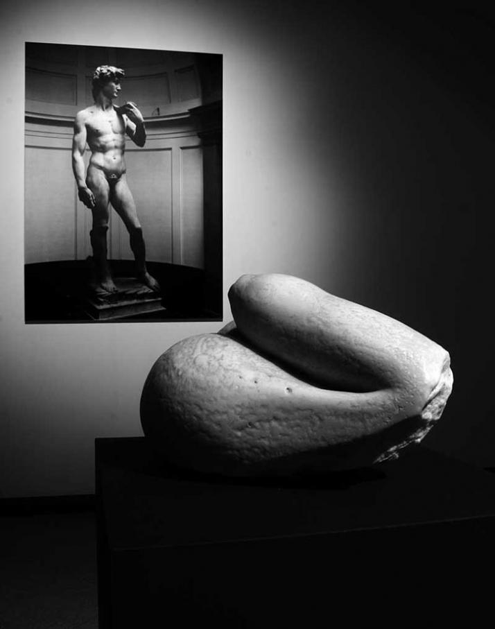 souvenir David white marble, 25 x 20 x 18 cm, 2006