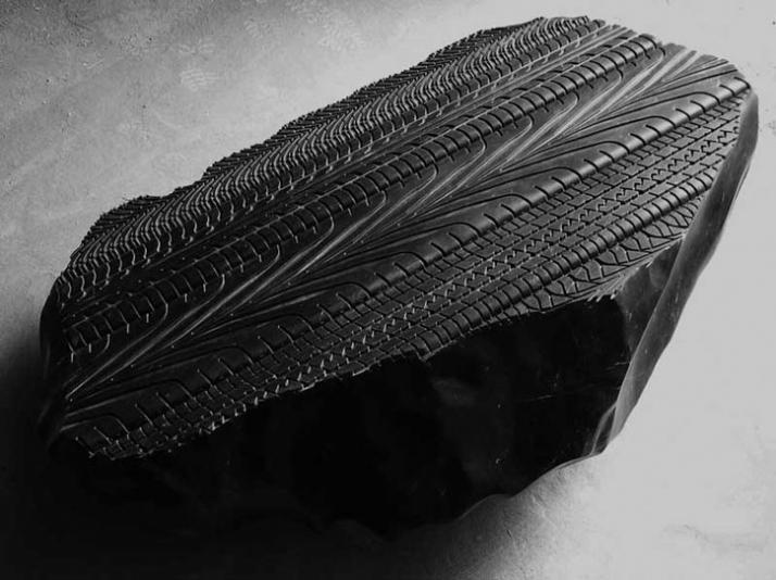Stele black marble, 55 x 165 x 110 cm, 2005