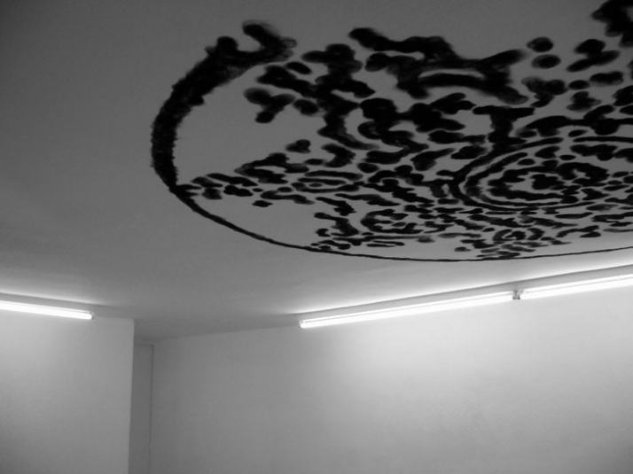 Untitled (Rosace) Flame of the ligther on ceiling Galeria Cruce Madrid - Spain 2006