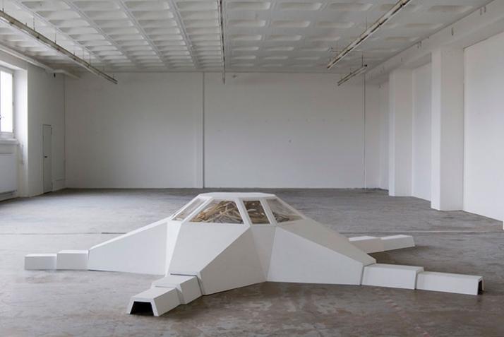 Distributor 1.1. Module 4611602, 2007, mixed media, 75 x 600 x 600 cm,  © Matthias Männer, Courtesy Gallery Dina4 Projekte, Munich